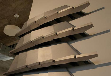 Fabricated shelving system for SCI-arc
