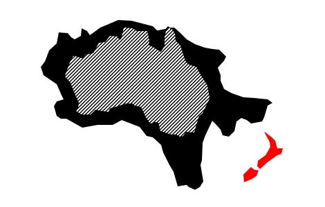 Australia now bigger, by SuperColossal