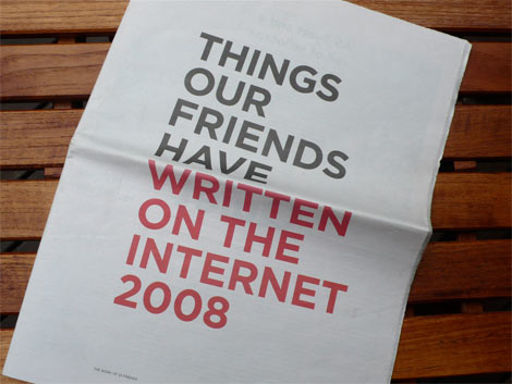 Things our friends have written on the internet