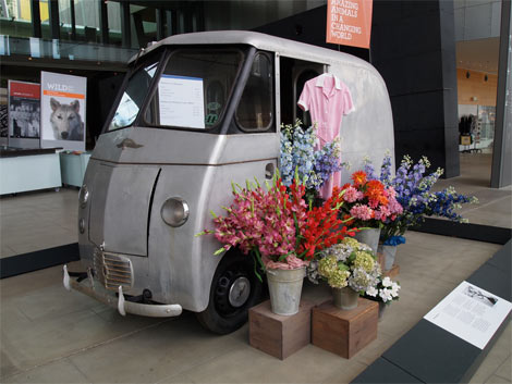 Deliverette prototype by Commonwealth Aircraft Corporation, Melbourne Museum. Designed to fit down Melbourne laneways and tight streets, this particular version was designed with flower sellers in mind.