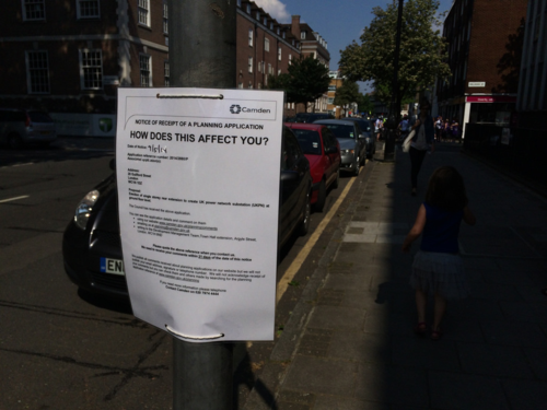 Camden planning notice