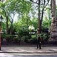 Bedford Square, passer-by