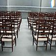 1959 Chapel, rows of chairs