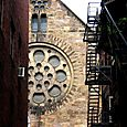 Rose window, glimpsed