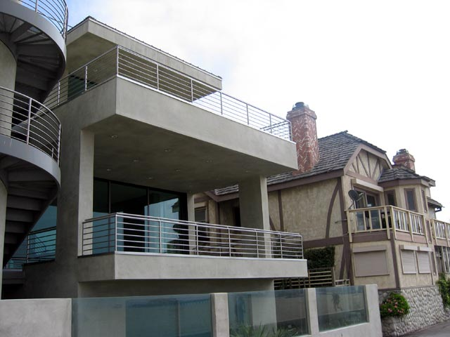 Postmodern house, Santa Monica beachfront