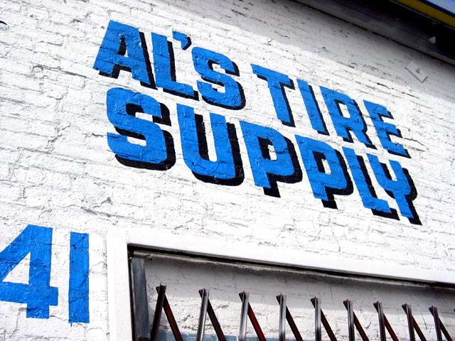 Sign for Al's Tire Supply, Santa Monica