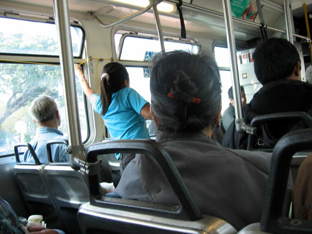 On the bus, Los Angeles