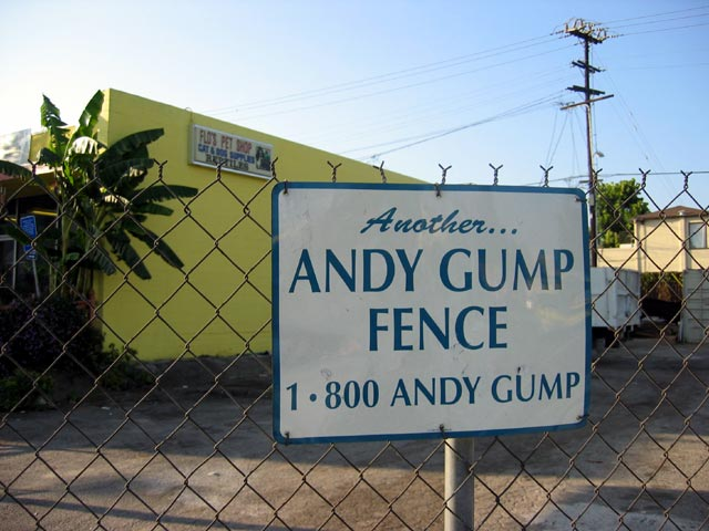 Another Andy Gump Fence