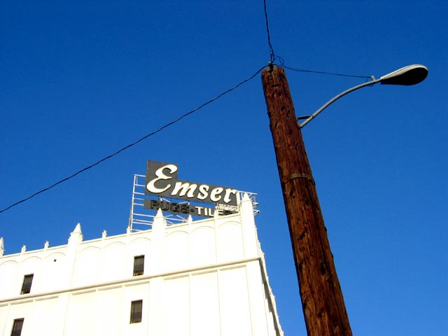 """Emserve"". Signage, Los Angeles"