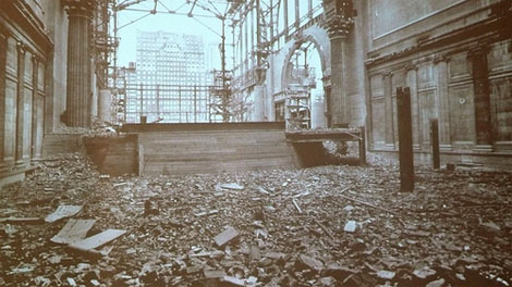 Penn Station in ruins