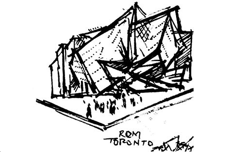 Libeskind napkin sketch for the ROM Crystal