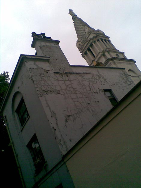 St Georges, Bloomsbury, from Little Russell Street