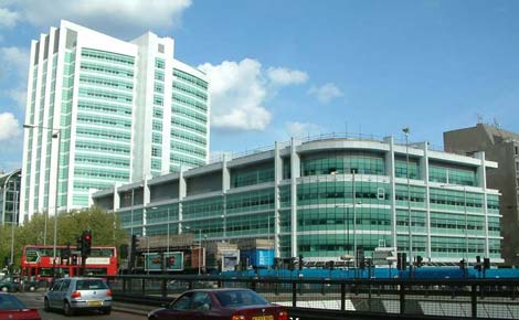 New UCLH from Euston Road