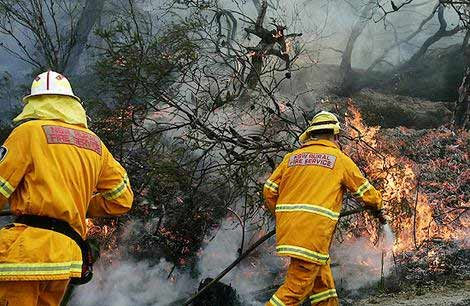Bushfire image from SMH today