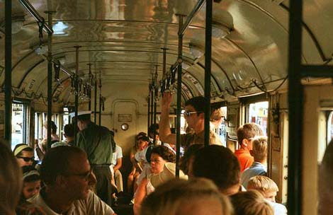 Last day of Brisbane's trams, 1969