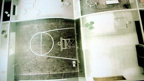 House in China: Basketball court in the middle among other functions