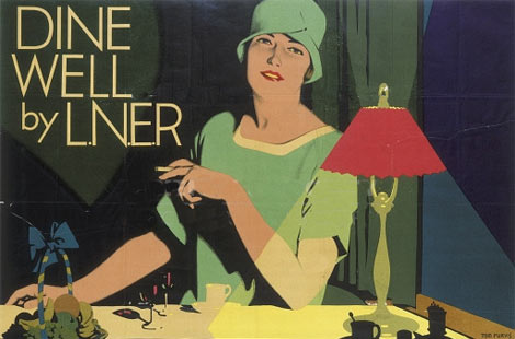 Tom Purvis poster for LNER restaurant cars