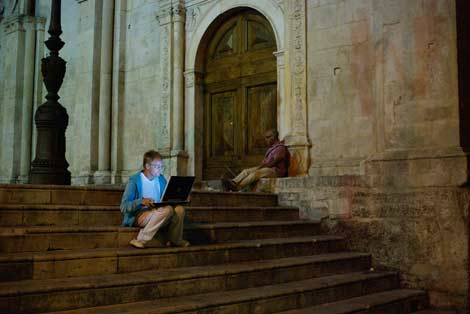 Sulmona tourist office free wifi by Timo Arnall