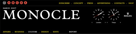 Rolex clocks on Monocle.com