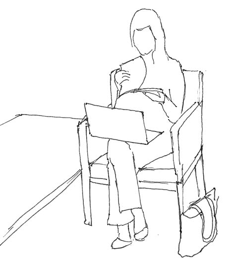 Sitting_reading_demurely