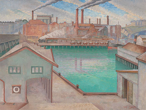 Pyrmont Power Station from Darling Harbour c.1935 by Rah Fizelle