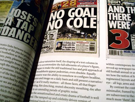 Eye article on British tabloid sports pages design