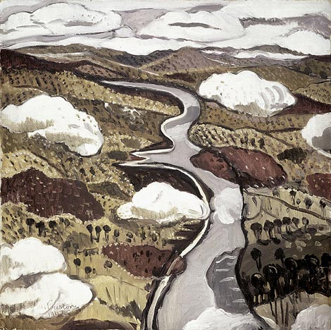 Flying Over The Shoalhaven Peninsula by Margaret Preston