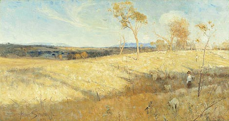 Golden Summer, Eaglemont, 1889, by Arthur Streeton