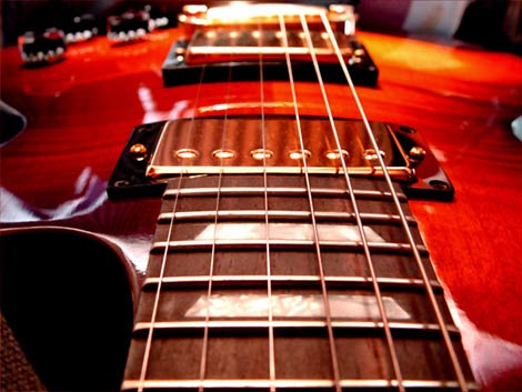 Interface of an electric guitar