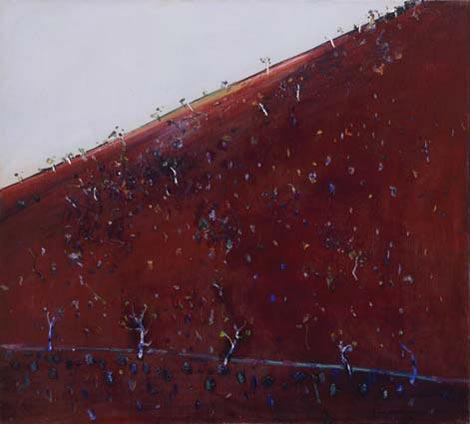 Iron Ore Landscape, 1981, by Fred Williams