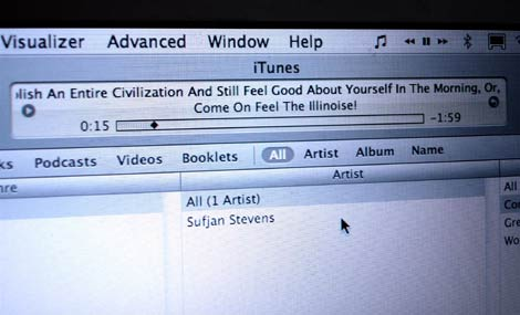 Long trackname in iTunes