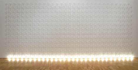 Lumination fall wall weave by Jonathan Jones